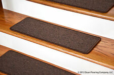Dean Peel and Stick Carpet Stair Treads - Dark Brown  (13) Runner Rugs