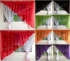 Amazing Ready Made Voile Net Curtain with Leaves Red Green Purple Black Pink New