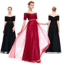 TULLE LONG Bridesmaid DRESS Wedding Evening Prom Cocktail Ball Gown Party Gowns
