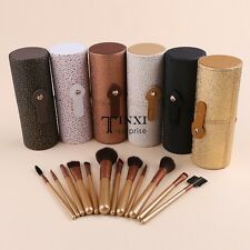12 PCS Pro Makeup Brush Set Cosmetic Brushes Tool Kit + Cup Holder Case Hot TXSU