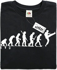 KARATE - Mans Evolution T-Shirt® (ape) - Black - present gift. Brand new.