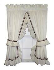 Ruffled Priscilla Pair with Tie Backs 6 edge trims to choose Country Curtains 84