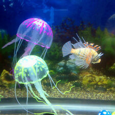 Artificial Jellyfish Glowing Effect Fish Tank Aquarium Ornament Decoration