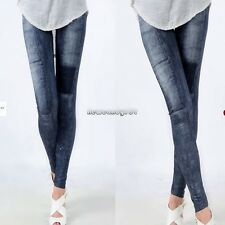Womens Denim Jeans Sexy Skinny Leggings Jeggings Stretch Pants Trousers NC89