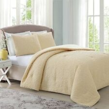 NEW Twin Full Queen King Bed Pinsonic Quilted Yellow 3 pc Comforter Shams Set