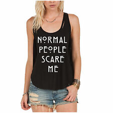 Normal People Scare Me Women's Tank Top. American Horror Story Quote.