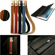 "Genuine Leather Sleeve Case w/ Carry Strap For Apple iPad Pro Pencil   9.7""12.9"""