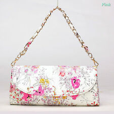 Womens Ethnic Envelope Clutch Chain Purse Lady Handbag PU Tote Shoulder Hand Bag