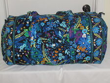 VERA BRADLEY MIDNIGHT BLUES XL LARGE Duffle Travel Bag Free Shipping