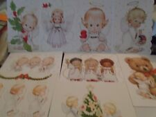 One Ruth Morehead Christmas Greeting Card with ANGEL Lot One