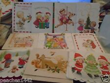 One Ruth Morehead CHILDREN Christmas Greeting Card Lot One