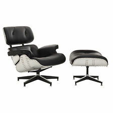 NEW Lounge Chair And Ottoman Aluminium Eames Reproduction
