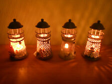 Mediterranean Lighthouse Candle Holder with Tea Light Candles - 2 for £9.99