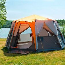 8 Man Tent Large Coleman Waterproof Octagon Person Family Camping Hiking