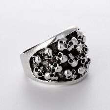 New Fashion Jewelry Stainless Steel Mens/Womens Silver skulls Rings Gift Hot