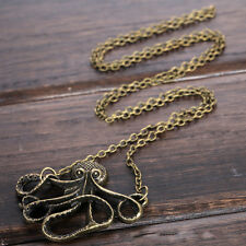 Women Fashion Jewelry Vintage Octopus Pendant Necklace  Clavicle Chain E5