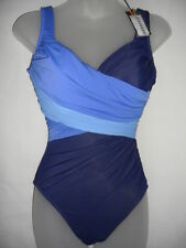 NWT  Womens Miraclesuit Calypso Be Dazzled One piece Swimsuit Blue $142