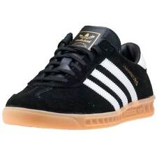 adidas Hamburg Mens Trainers Black Gum New Shoes
