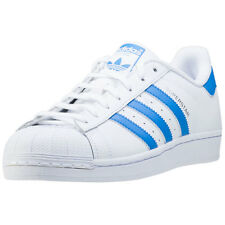 adidas Superstar Mens Trainers White Blue New Shoes