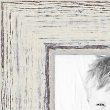 ArtToFrames .75 Inch Eggshell Rustic Barnwood Wood Picture Poster Frame 1343