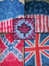 ADULT Handmade tie dye shirt - AMERICAN FLAG - BRITISH, CANADIAN, SOUTHERN TEXAN