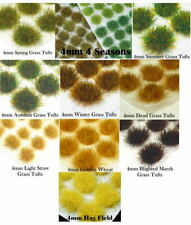 120 x 4mm Static Grass Tufts Self Adhesive - Imperial Guard 40K Basing Bases