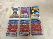 6 New Sealed MARVEL OVERPOWER RECHARGE CARD GAME Booster Packs 1995 Rare