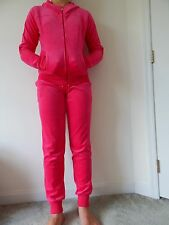 NWT Women's JUICY COUTURE VELOUR HOT PINK HOODIE & JOGGER TRACK SUIT S; M; L; XL