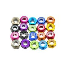 5-20 PCS M3 Color Nylon Insert Self-Lock Hex Lock Nut Aluminum Locking Nuts 3MM