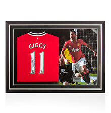 Ryan Giggs Signed Manchester United Shirt Number 11 - Panoramic Framing
