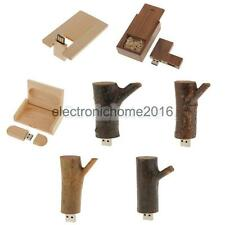 8/16/32GB Wood USB 2.0 Memory Stick Flash Thumb Drive Data Storage Disk Favor
