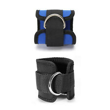 Ankle Strap D ring Foot Leg Pulley Gym Weight Lifting Multi Cable Attachment BD