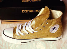 Custom Gold Glitter Handmade Converse Shoes