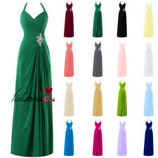 New Stock Long Formal Wedding Bridesmaid Dress Prom Party Evening Ball Gown 6-18