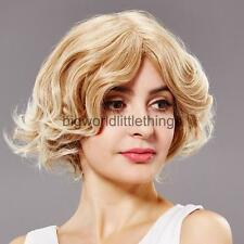 Fashion Cute Women Curly Wave Short Brown Wig Cosplay Bob Hair Full Wigs Gift