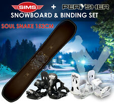 Snowboard 152cm & Bindings Set - SIMS SOUL SNAKE SNOWBOARD 152cm THE DUAL TWIN T