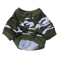 XS-L Pet Dog Vogue Camo T-shirt Clothing Hoody Apparel Pup Doggy Camouflage Coat