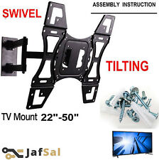 Tilt Swivel Slim TV Wall Mount Bracket for 22 26 32 40 42 50 + Plasma LCD LED 3D
