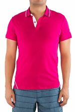 Just Cavalli Authentic Designer Men Polo Shirt T-Shirt Tee Pink Cotton