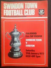 Swindon v Everton 1976-77 programme