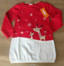 Gymboree Holiday Shop Reindeer Friends Sweater Dress 2t NWT