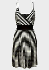 New Ladies C&A Clockhouse Black & White Striped Dress Sizes 8 10 12 14 16 18