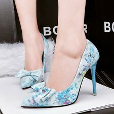 Women's Floral Stilettos Pointed Toe Pumps Clubwear High Heels Shoes Sandals New