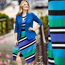 NEW! 2016 Sold Out $90 Lane Bryant Striped Tulip Skirt Maxi Dress Plus Size