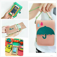Universal Cell Phone Shoulder Bag Cartoon Pouch Case Purse with Removeable Strap