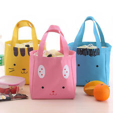 New Cute Portable Insulated Thermal Picnic Lunch Box Carry Tote Storage Bag Case