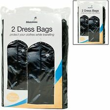 2 PACK SUIT BAG DRESS CLOTHES BAGS TRAVEL PROTECTOR CARRIER GARMENT BAGS STORAGE