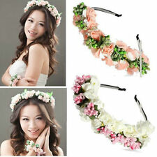 Romantic Flower Garland Floral Headband Hairband Wedding Prom Hair Accessories