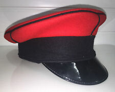 QUEENS ROYAL LANCERS DRESS PEAKED CAP - Multiple sizes , British Army Issue