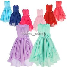 Chiffon Flower Girl Dress Pageant Wedding Bridesmaid Formal Recital Graduation